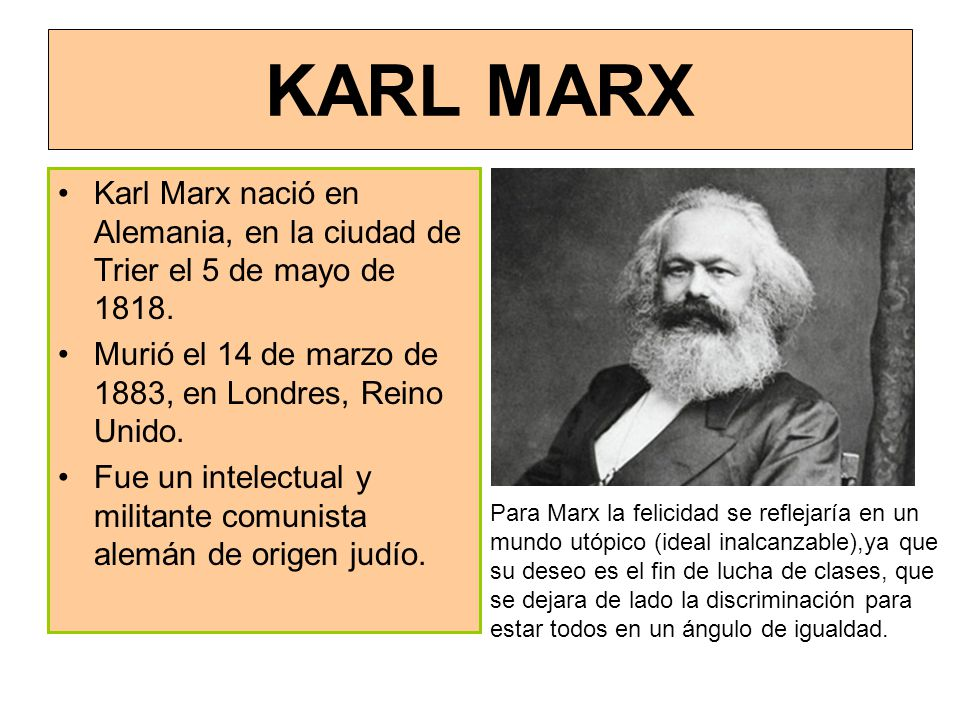 biography of karl marx essay