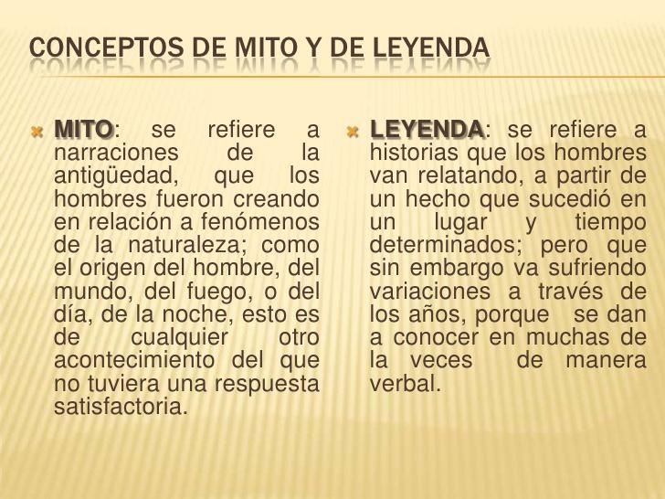 Diferencias entre Mitos y Leyendas: Cuadros comparativos para ...