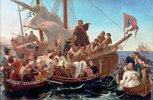 colonizacionhristopher-columbus-santa-maria-1492_