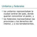 cuadros comparativos entre unitarios y federales