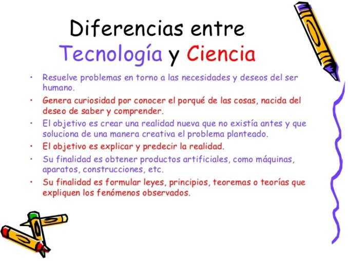 cuadros comparativos de ciencia y tecnologia cuadro