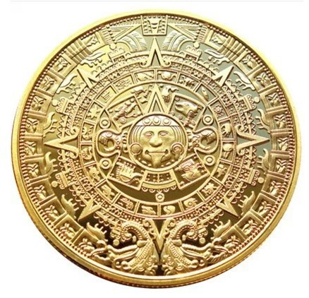 mayaRetail-1-Pcs-font-b-Aztec-b-font-font-b-calendar-b-font-stone-Gold-Coating