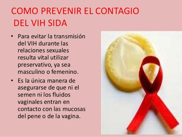 Las formas de contagio y prevencion del vih-sida