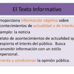 Cuadros sinópticos sobre textos informativos: Características y ejemplos