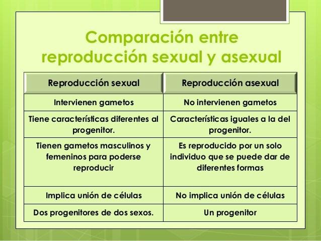Diferencia entre reproduccion sexual y asexual ejemplos