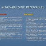 Cuadros comparativos, diferencias entre energias renovables y no renovables