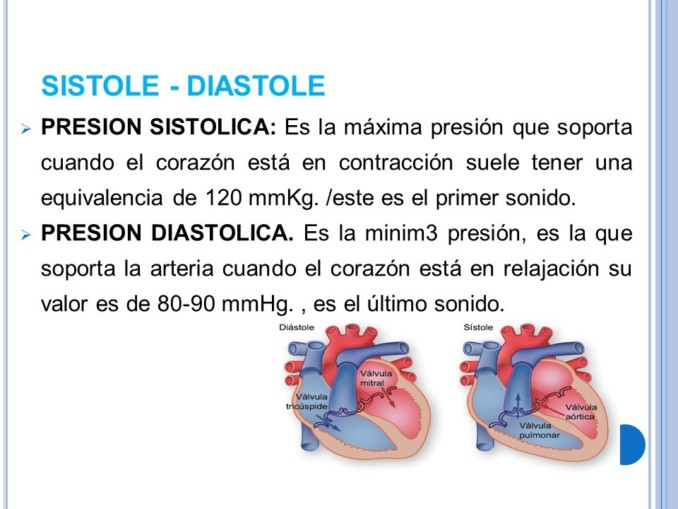 Presión arterial poca diferencia entre sistólica y diastólica